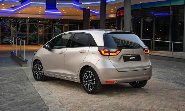 rear-view of the new honda fit